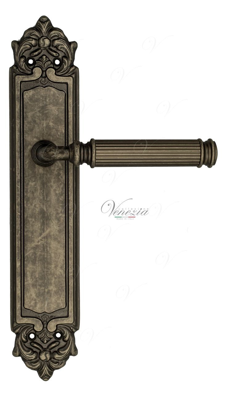 Door Handle Venezia  MOSCA  On Backplate PL96 Antique Silver