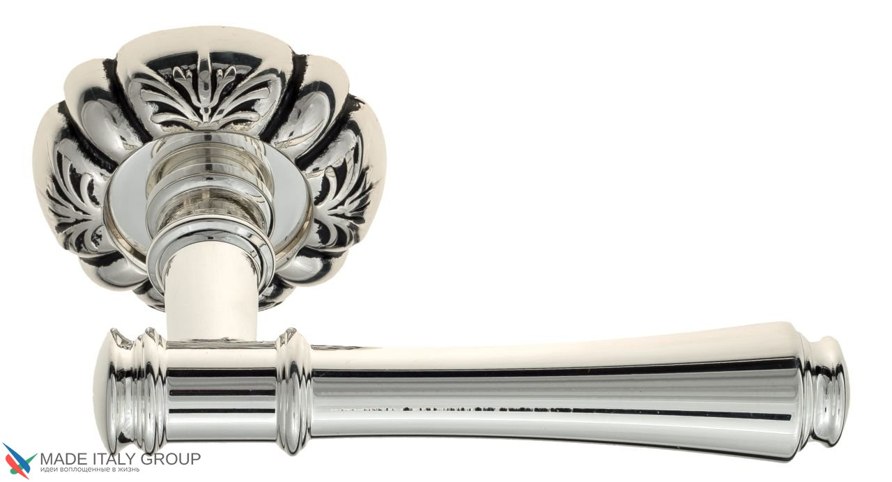 Door Handle Venezia  CALLISTO  D5 Natural Silver + Black