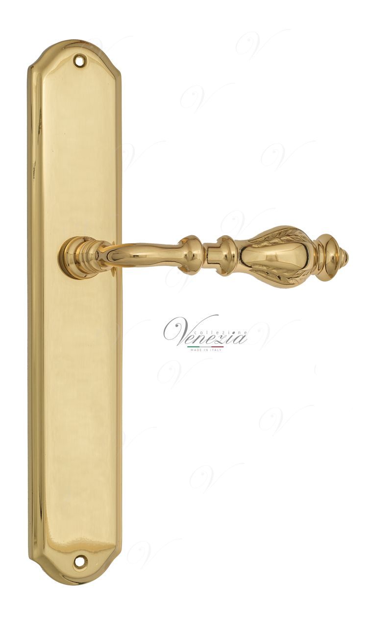 Door Handle Venezia  GIFESTION  On Backplate PL02 Polished Brass