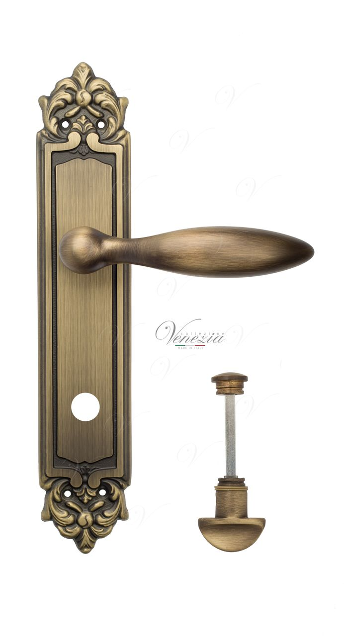 Door Handle Venezia  MAGGIORE  WC-2 On Backplate PL96 Mat Bronze