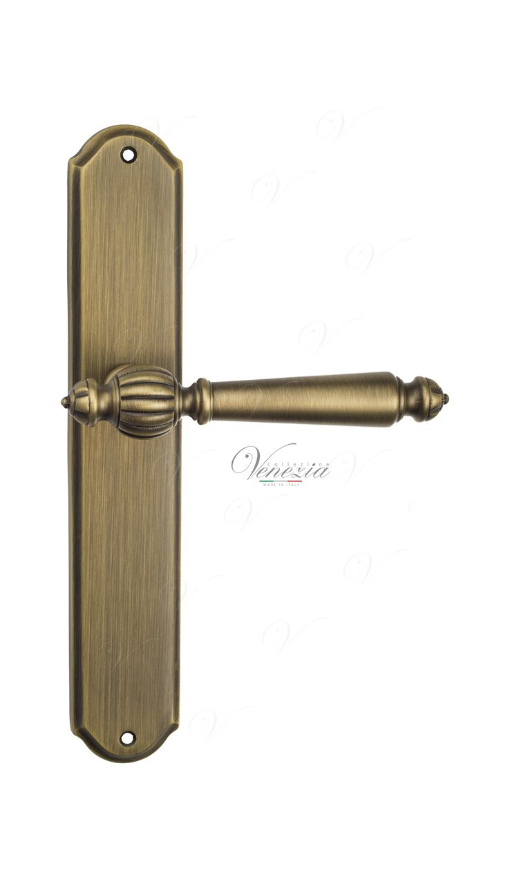 Door Handle Venezia  PELLESTRINA  On Backplate PL02 Mat Bronze