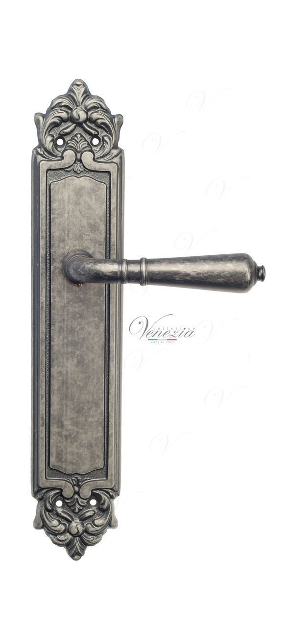 Door Handle Venezia  VIGNOLE  On Backplate PL96 Antique Silver