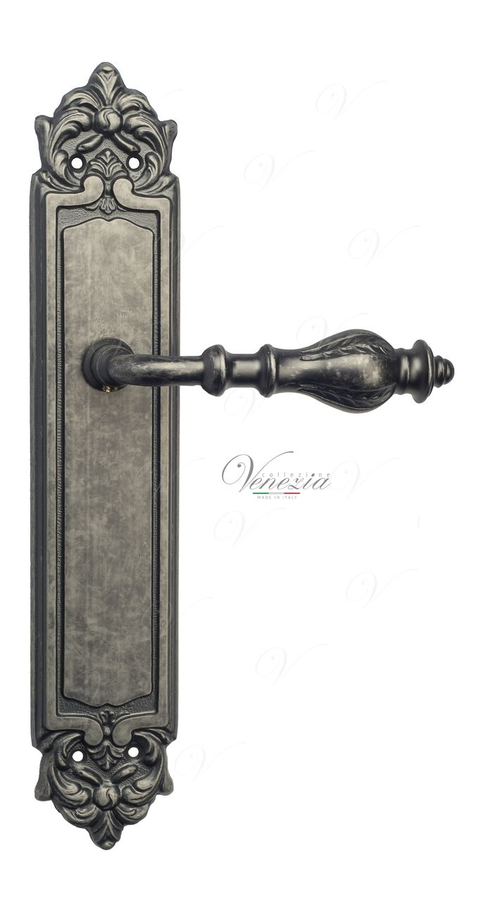 Door Handle Venezia  GIFESTION  On Backplate PL96 Antique Silver